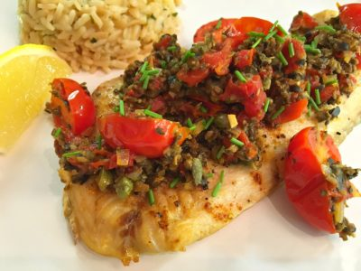 Mediterranean Fish Fillet with Tapenade