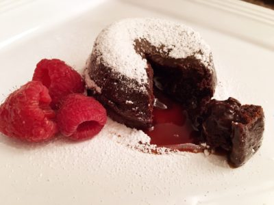 Chocolate Lava Cake with Caramel