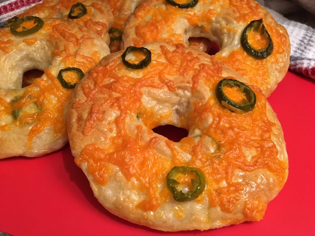 Jalapeño Cheese Bagels