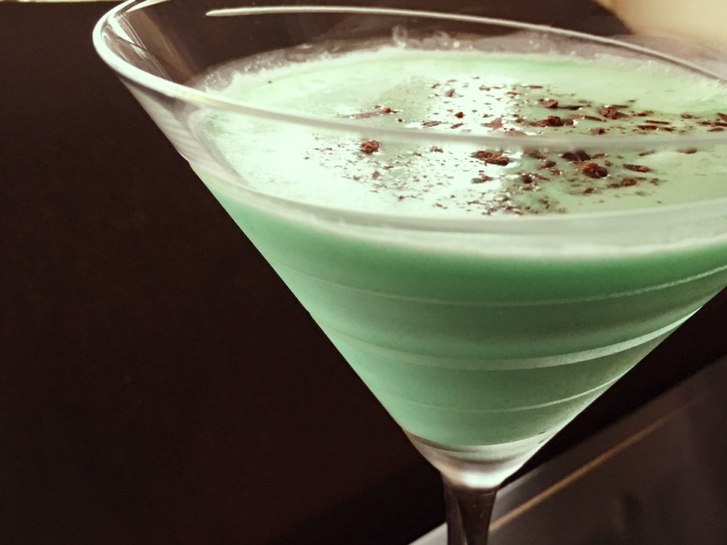 Chocolate Grasshopper Martini Recipe St Patty S Drink Club Foody Club Foody